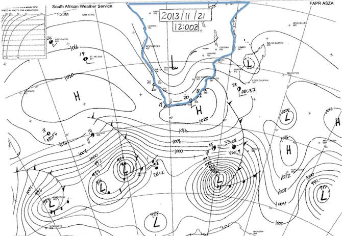 Synoptic Chart - SAWS - South Africa - 13.11.21 00h00Z.jpg